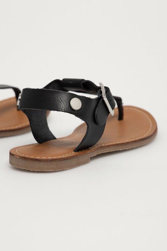 čierna Steve Madden - Kožené sandále Tally
