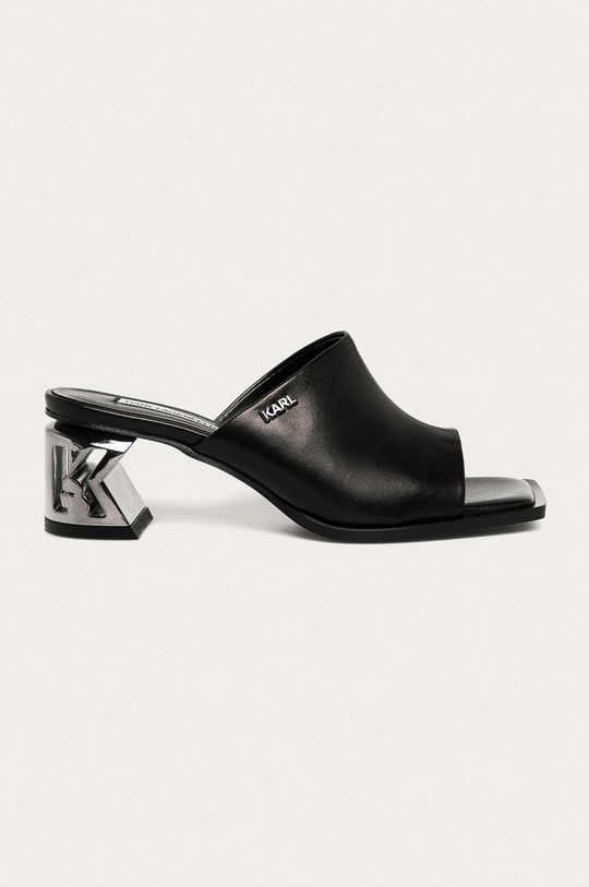 černá Karl Lagerfeld - Kožené sandály Dámský