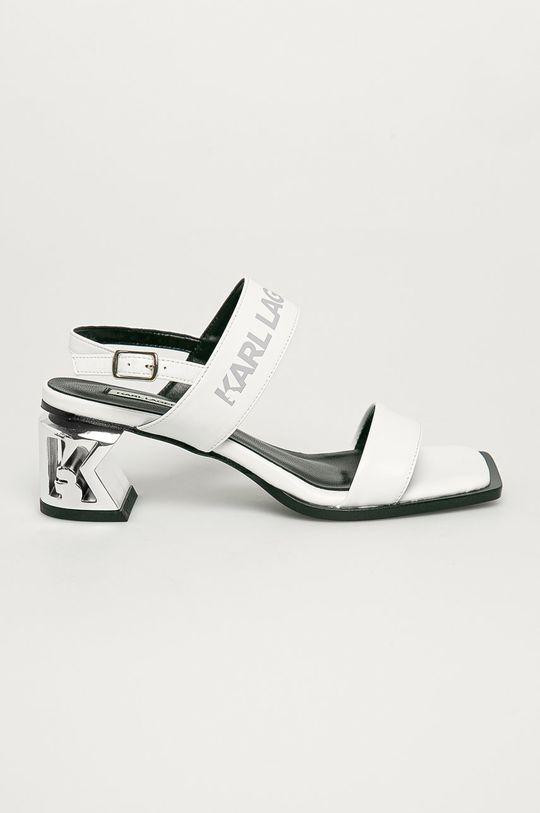 bílá Karl Lagerfeld - Kožené sandály Dámský