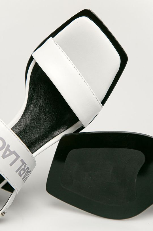 bílá Karl Lagerfeld - Kožené sandály