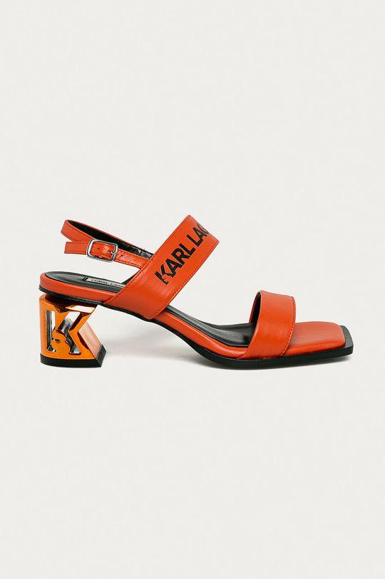 oranžová Karl Lagerfeld - Kožené sandály Dámský