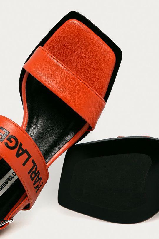 oranžová Karl Lagerfeld - Kožené sandály