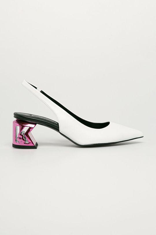 biały Karl Lagerfeld - Czółenka skórzane Damski
