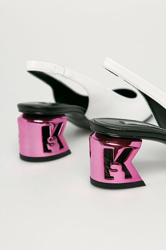 Karl Lagerfeld - Czółenka skórzane Cholewka: Skóra naturalna, Wnętrze: Materiał syntetyczny, Skóra naturalna, Podeszwa: Materiał syntetyczny