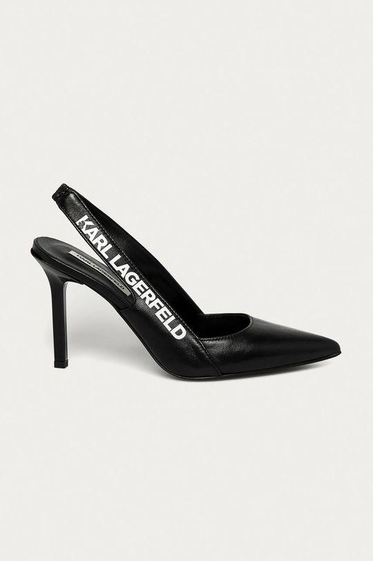 černá Karl Lagerfeld - Kožené lodičky Dámský