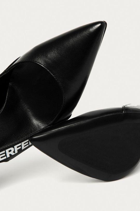černá Karl Lagerfeld - Kožené lodičky