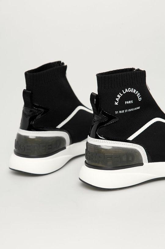 Karl Lagerfeld - Buty Cholewka: Materiał tekstylny, Skóra naturalna, Wnętrze: Materiał tekstylny, Podeszwa: Materiał syntetyczny