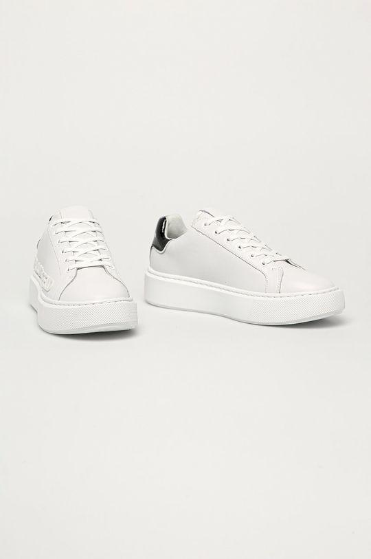 Karl Lagerfeld - Ghete de piele alb