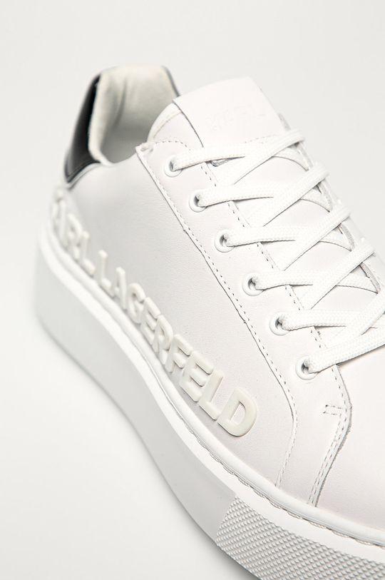 biela Karl Lagerfeld - Kožená obuv
