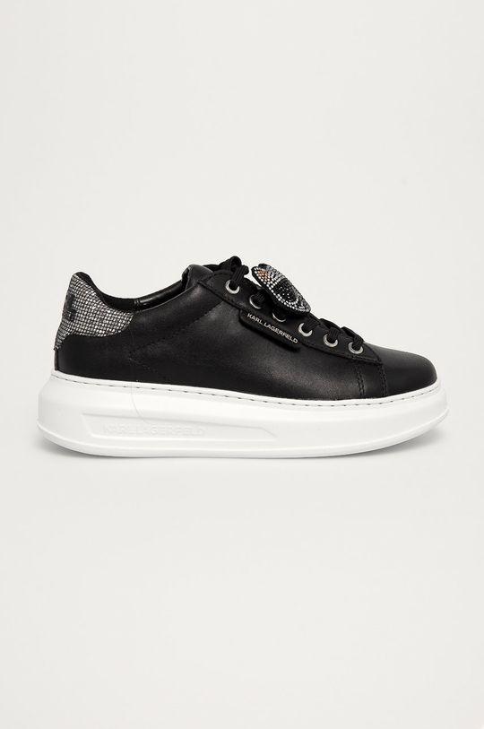 černá Karl Lagerfeld - Kožené boty Dámský