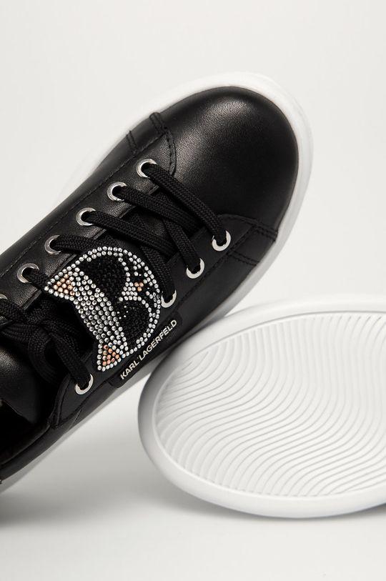 černá Karl Lagerfeld - Kožené boty