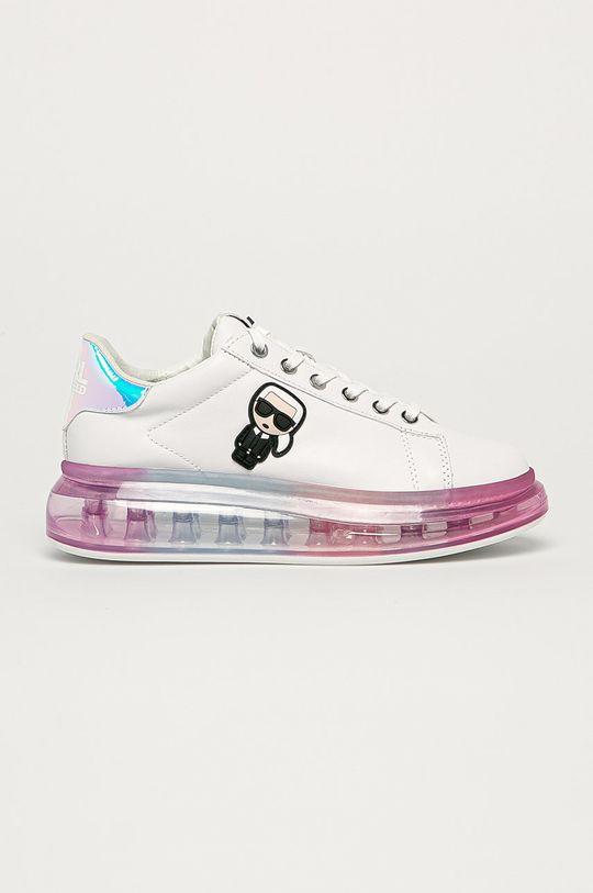 biela Karl Lagerfeld - Kožená obuv Dámsky