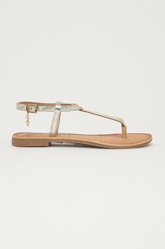 zlatá Mexx - Kožené sandály Dámský