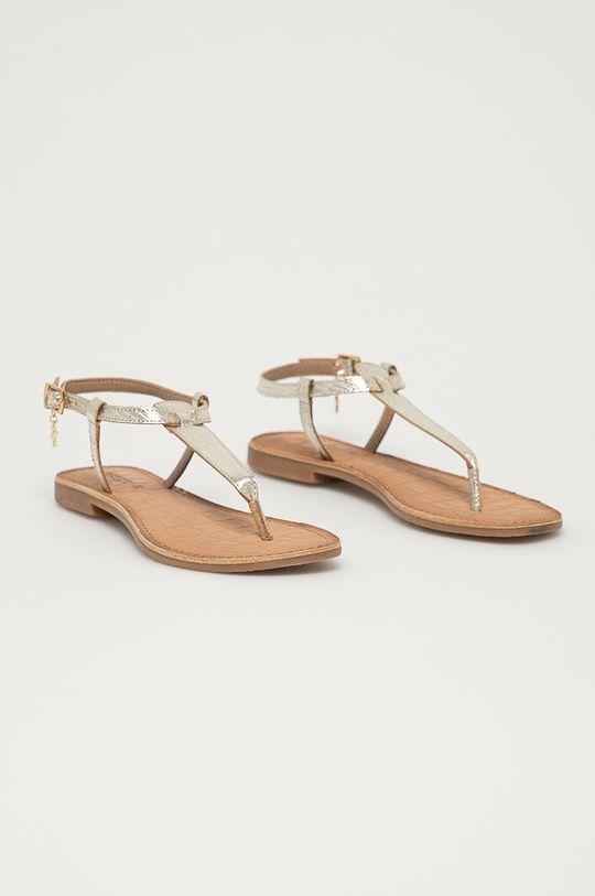 Mexx - Kožené sandály zlatá