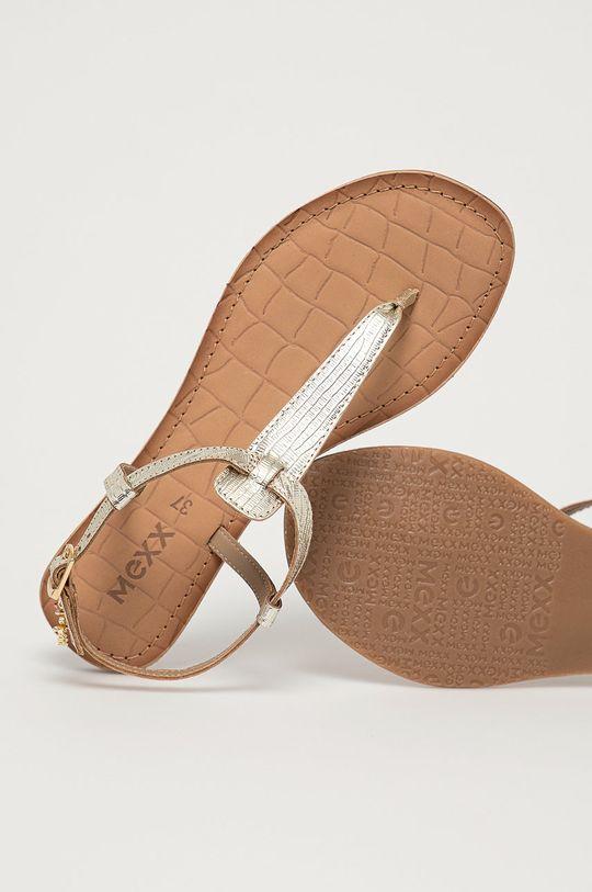 zlatá Mexx - Kožené sandály