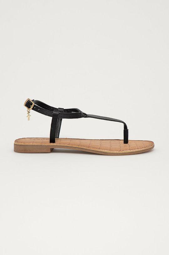 černá Mexx - Kožené sandály Dámský