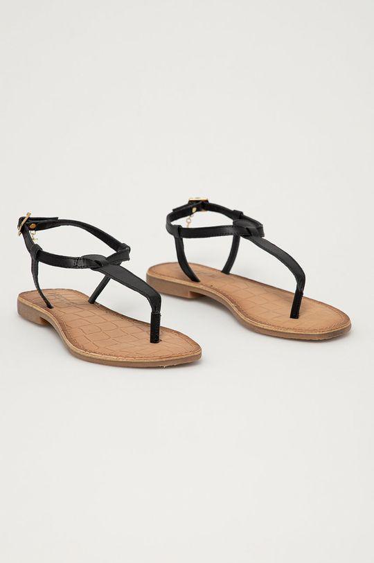 Mexx - Kožené sandály černá