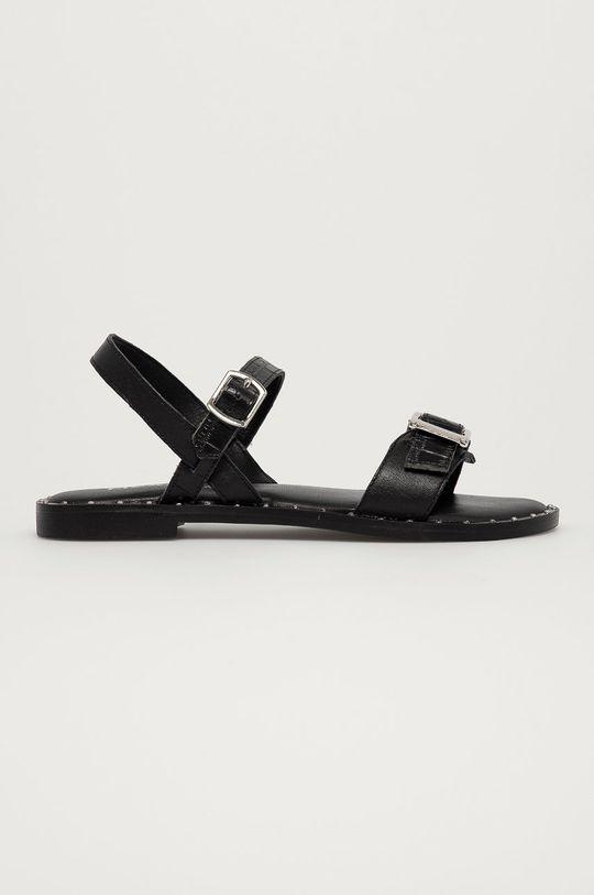 čierna Mexx - Kožené sandále Genua Dámsky