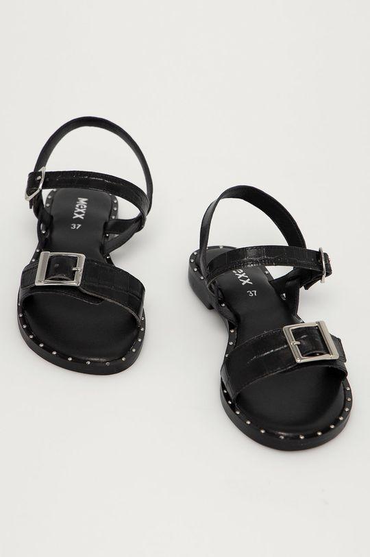 Mexx - Kožené sandále Genua čierna