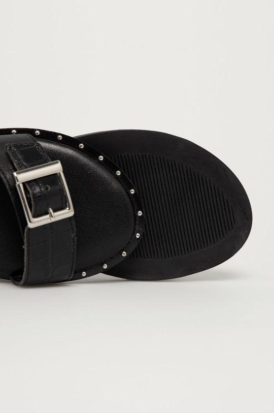 čierna Mexx - Kožené sandále Genua