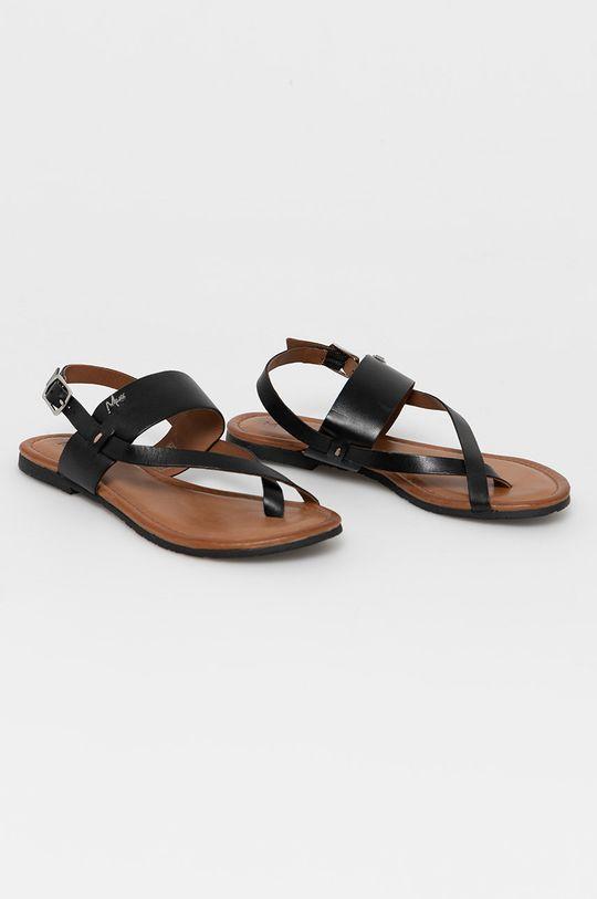 Mexx - Kožené sandále čierna