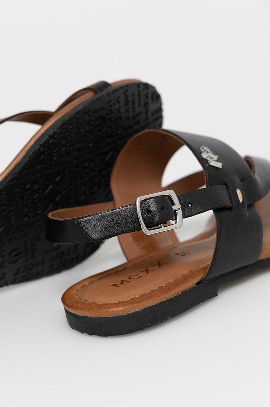 čierna Mexx - Kožené sandále