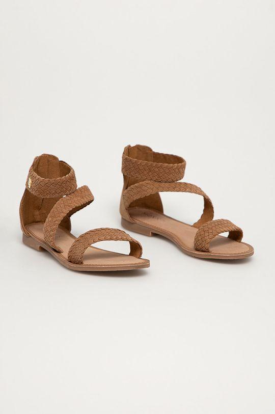 Mexx - Sandały zamszowe Eda brązowy