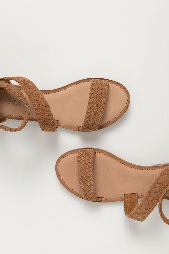 brązowy Mexx - Sandały zamszowe Eda