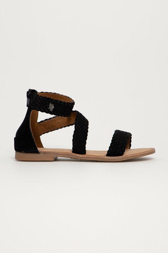 černá Mexx - Semišové sandály Eda Dámský