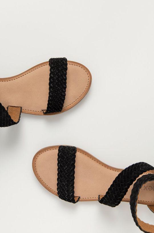 černá Mexx - Semišové sandály Eda