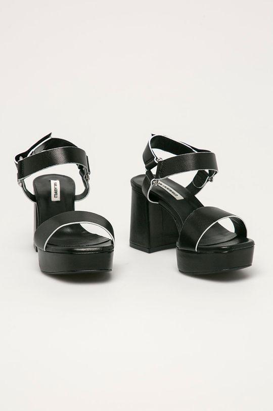 Karl Lagerfeld - Sandały skórzane czarny