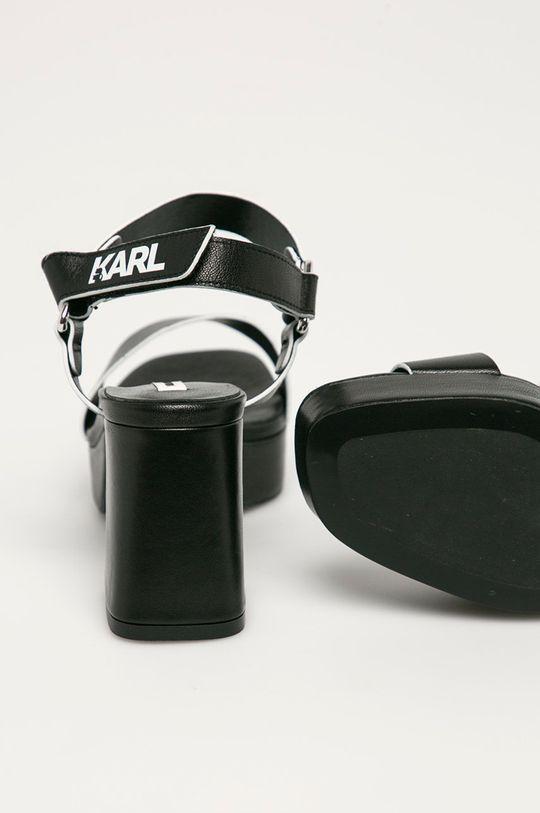 Karl Lagerfeld - Sandały skórzane Cholewka: Skóra naturalna, Wnętrze: Materiał syntetyczny, Skóra naturalna, Podeszwa: Materiał syntetyczny