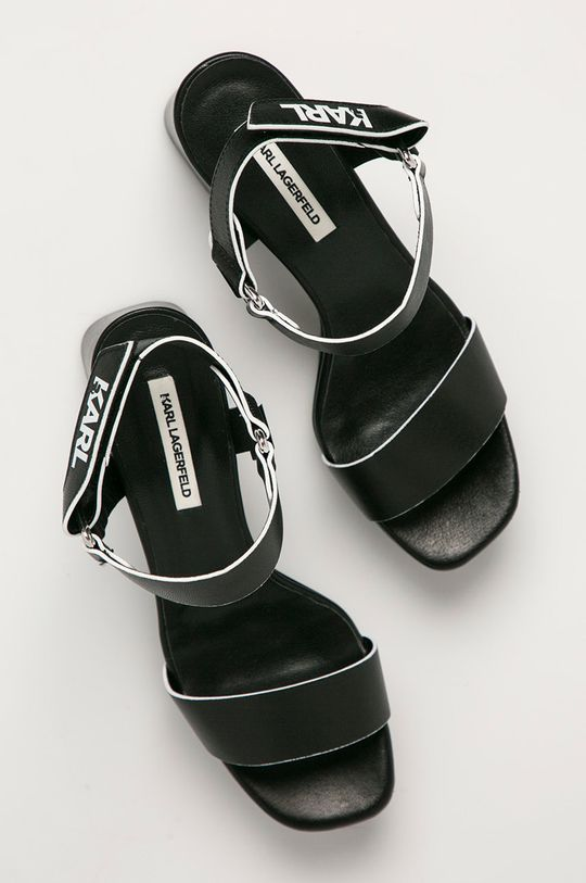 czarny Karl Lagerfeld - Sandały skórzane