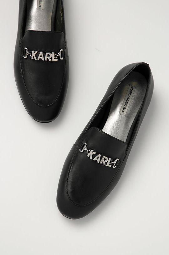 Karl Lagerfeld - Mokasyny skórzane Damski