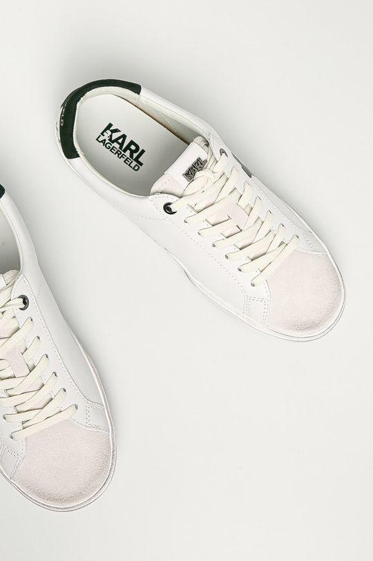 bílá Karl Lagerfeld - Kožené boty