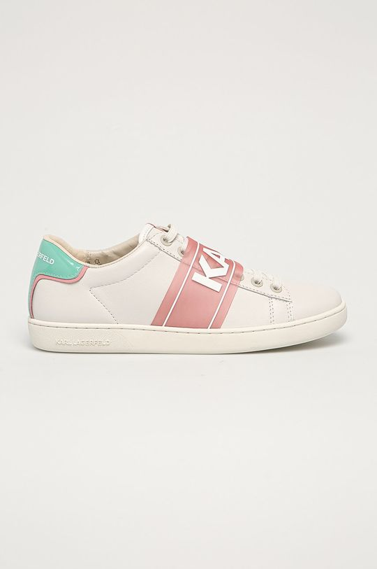 bílá Karl Lagerfeld - Kožené boty Dámský