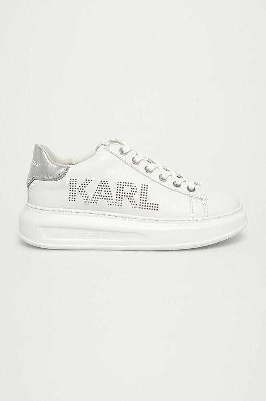 biały Karl Lagerfeld - Buty skórzane Damski