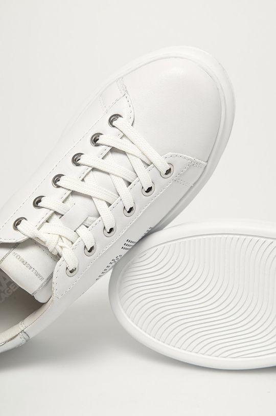 biały Karl Lagerfeld - Buty skórzane
