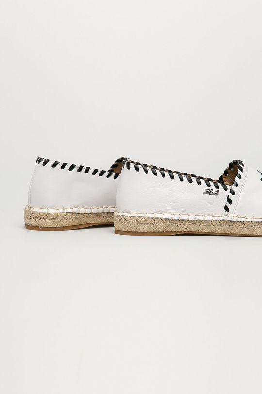 Karl Lagerfeld - Espadryle skórzane Cholewka: Skóra naturalna, Wnętrze: Skóra naturalna, Podeszwa: Materiał syntetyczny