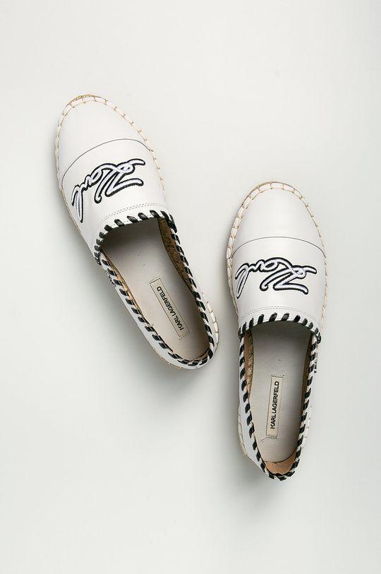 biały Karl Lagerfeld - Espadryle skórzane
