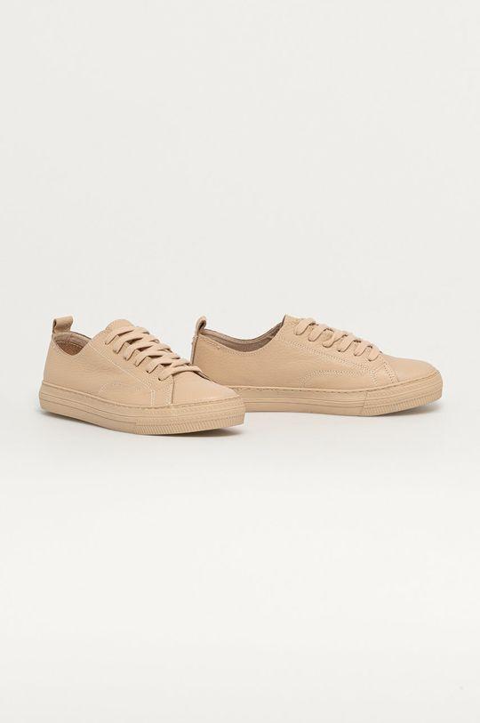 Marc O'Polo - Kožené boty písková