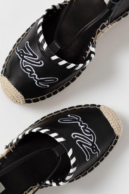 černá Karl Lagerfeld - Espadrilky
