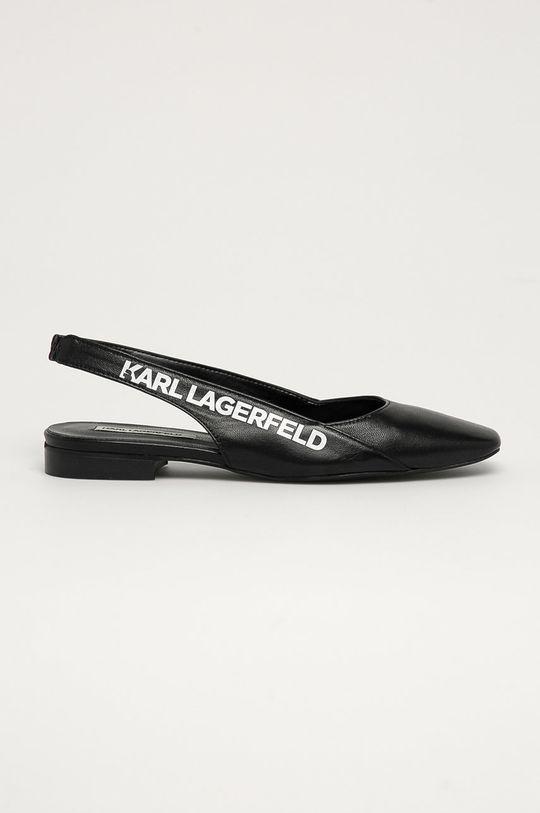 černá Karl Lagerfeld - Kožené baleríny Dámský