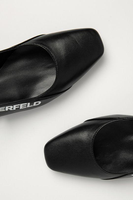 černá Karl Lagerfeld - Kožené baleríny