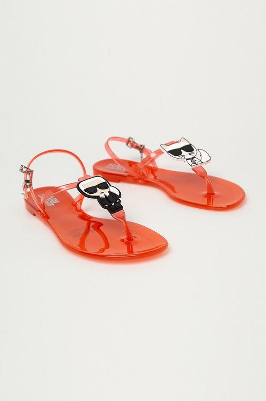 Karl Lagerfeld - Sandále oranžová