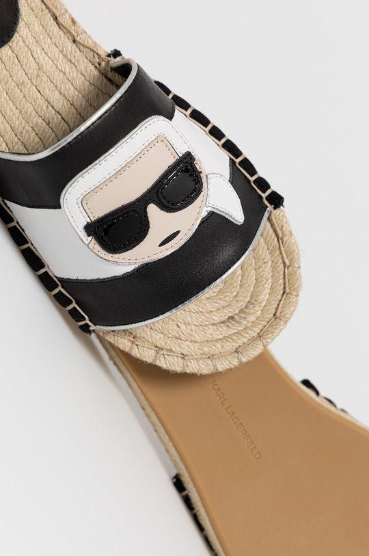 Karl Lagerfeld - Klapki Cholewka: Materiał syntetyczny, Skóra naturalna, Wnętrze: Materiał tekstylny, Skóra naturalna, Podeszwa: Materiał syntetyczny