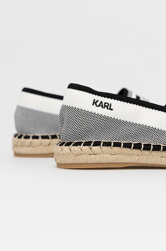 Karl Lagerfeld - Espadryle Cholewka: Materiał tekstylny, Wnętrze: Materiał tekstylny, Skóra naturalna, Podeszwa: Materiał syntetyczny