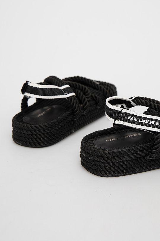 Karl Lagerfeld - Sandály  Svršek: Textilní materiál Vnitřek: Textilní materiál, Přírodní kůže Podrážka: Umělá hmota