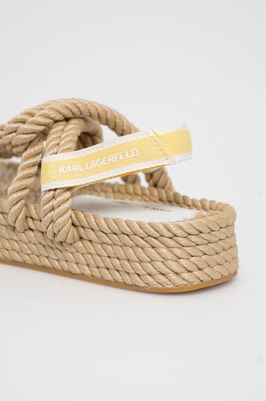 Karl Lagerfeld - Sandály  Svršek: Textilní materiál Vnitřek: Textilní materiál Podrážka: Umělá hmota
