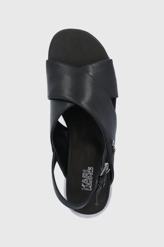 černá Karl Lagerfeld - Kožené sandály